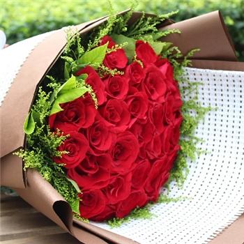 红玫瑰花束-化为相思