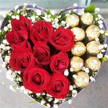 巧克力花盒-相依相爱