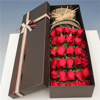 红玫瑰礼盒-满载幸福