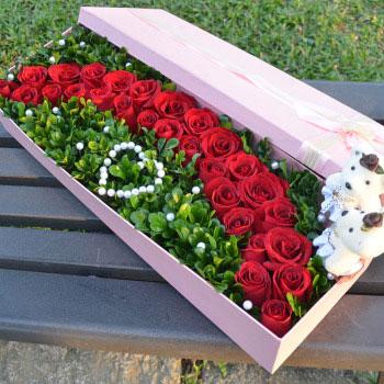 公仔礼盒鲜花:浪漫的风