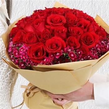 红玫瑰花束-厮守